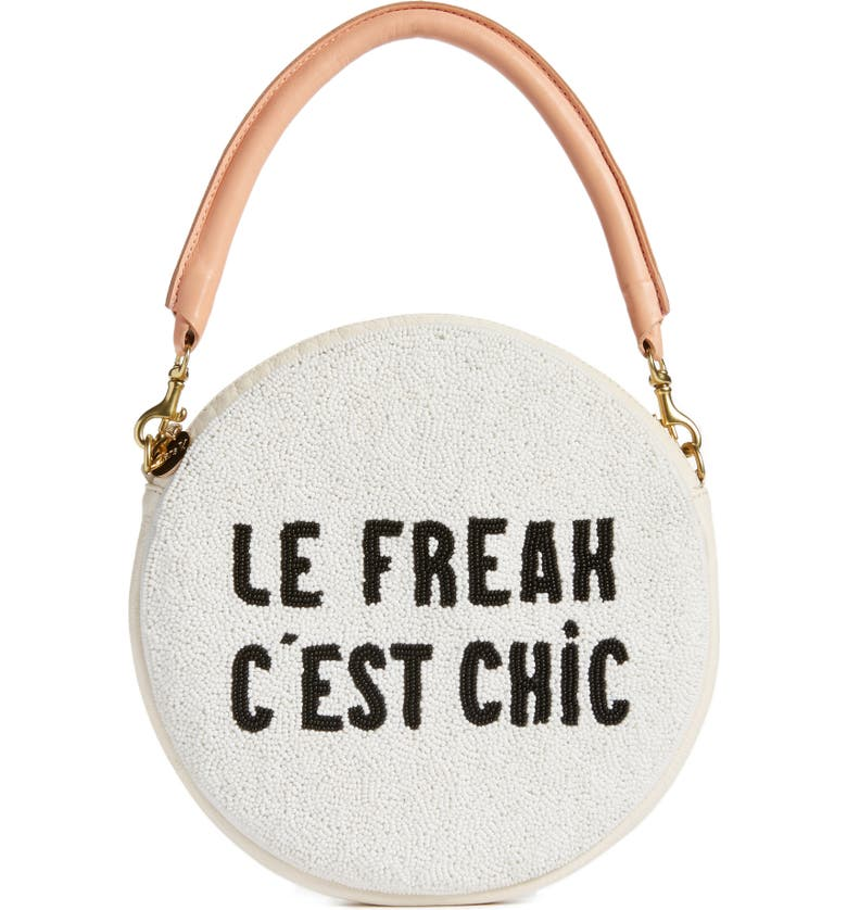 CLARE V. Le Freak Beaded Circle Clutch, Main, color, 900