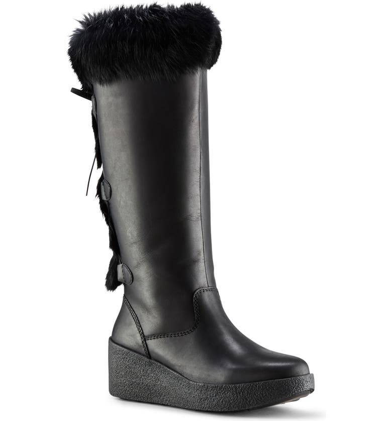 COUGAR Durand Waterproof Boot, Main, color, BLACK LEATHER