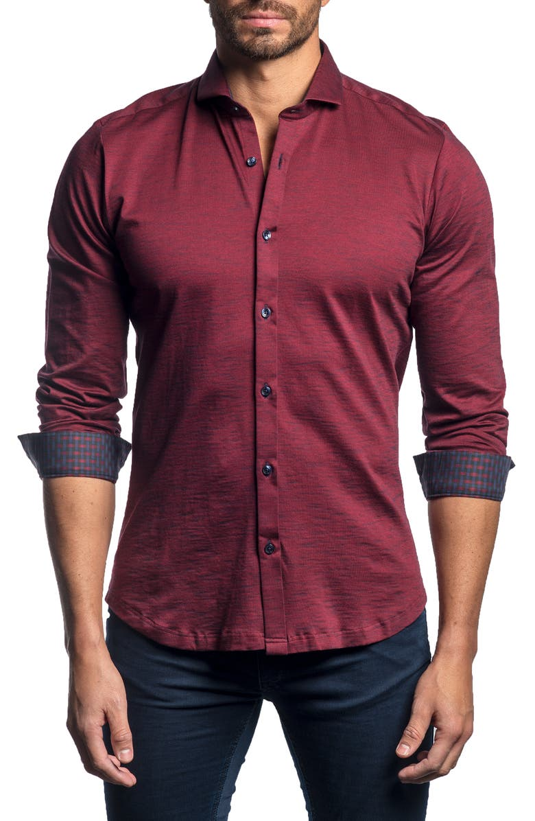 JARED LANG Slim Fit Button-Up Sport Shirt, Main, color, 930