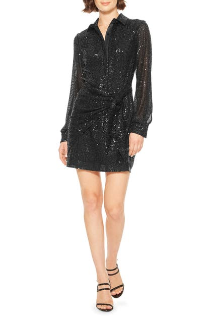 Parker Dresses PALMAS LONG SLEEVE SEQUIN MINIDRESS