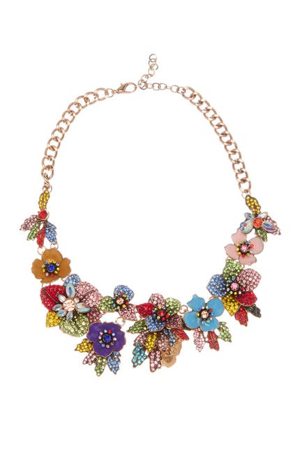 Image of Eye Candy Los Angeles Amy Crystal Floral Necklace