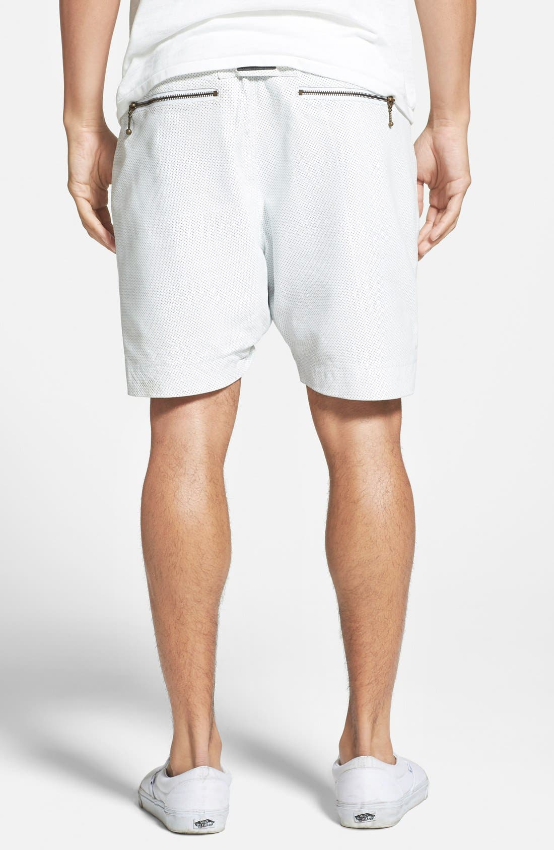 ,                             'Gabe' Perforated Leather Jogger Shorts,                             Alternate thumbnail 2, color,                             100