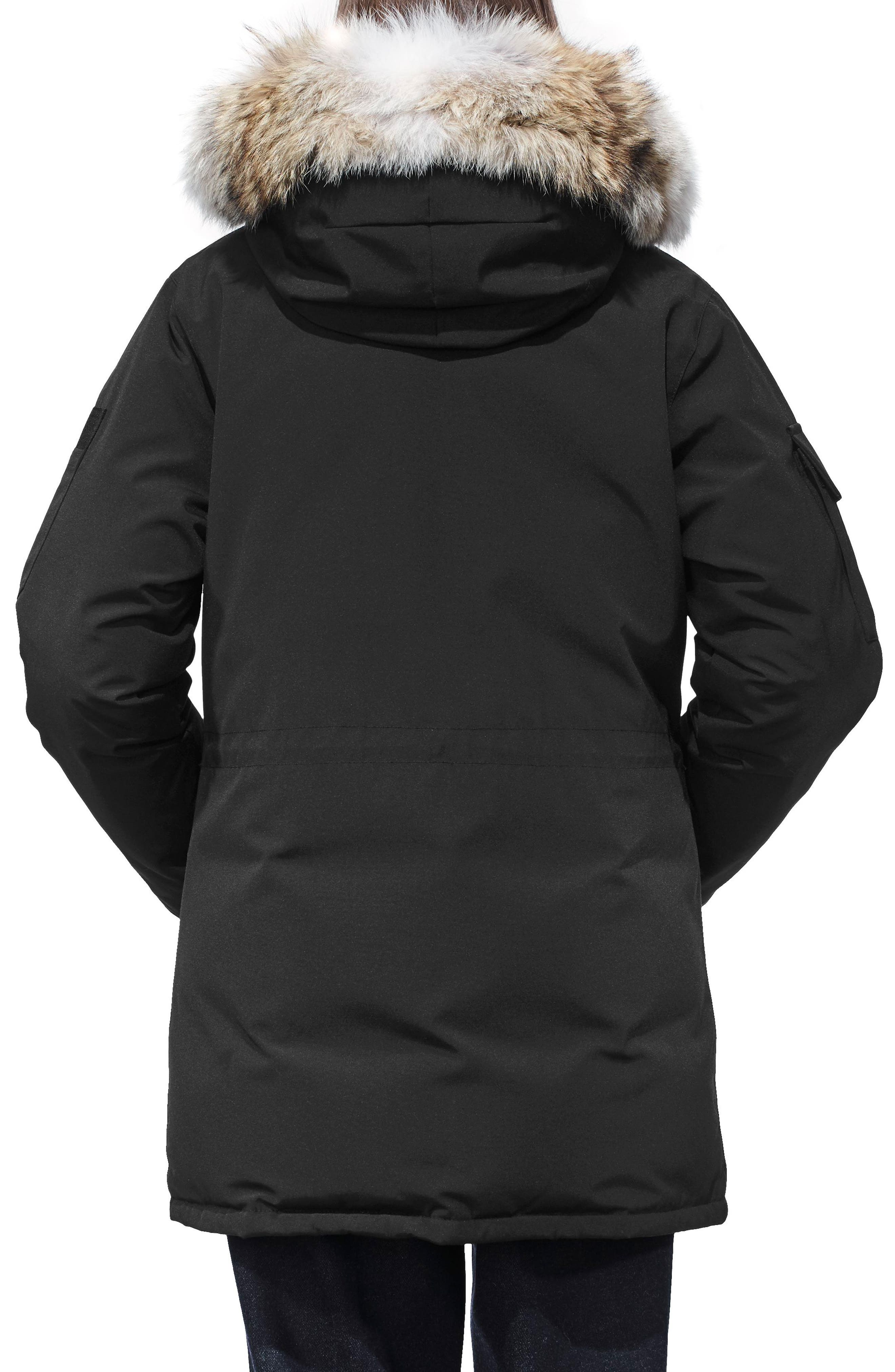 ,                             Expedition Hooded Down Parka with Genuine Coyote Fur Trim,                             Alternate thumbnail 2, color,                             BLACK
