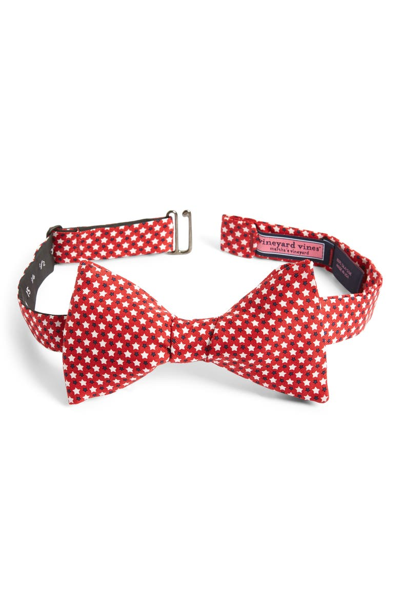 VINEYARD VINES Star Spangled Silk Bow Tie, Main, color, 610
