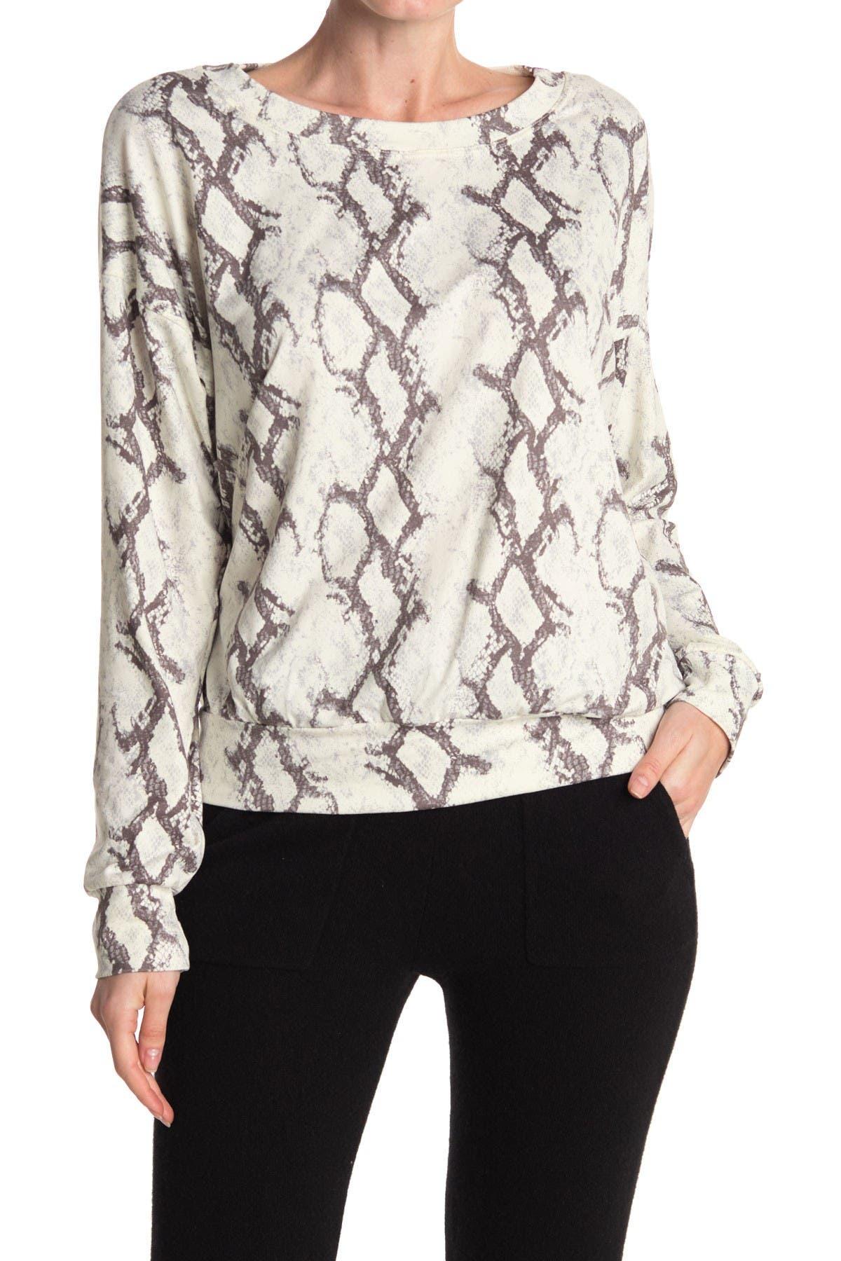 Image of Socialite Long Sleeve Tie Dye Print Pullover Sweatshirt