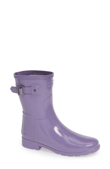 Image of Hunter Refined Short Gloss Rain Boot
