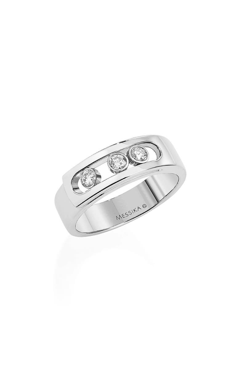 MESSIKA Move Noa Diamond Band Ring, Main, color, WHITE GOLD