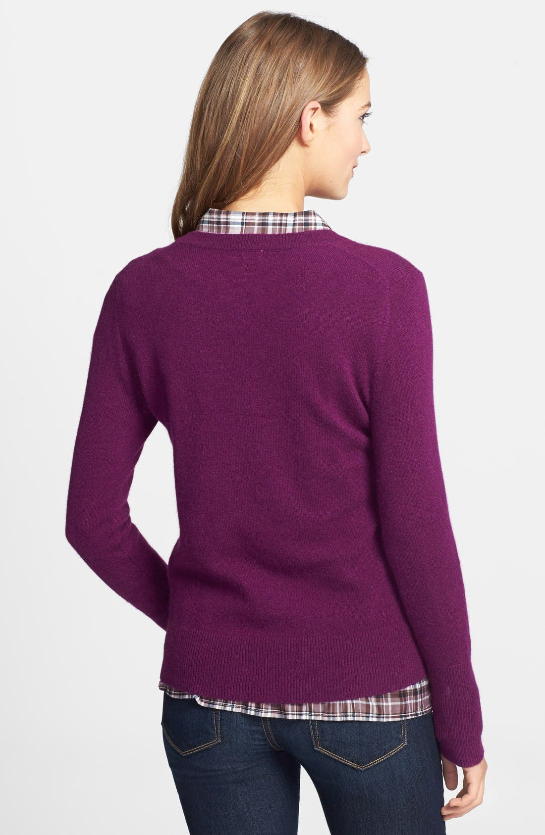 ,                             Cashmere V-Neck Sweater,                             Alternate thumbnail 66, color,                             501