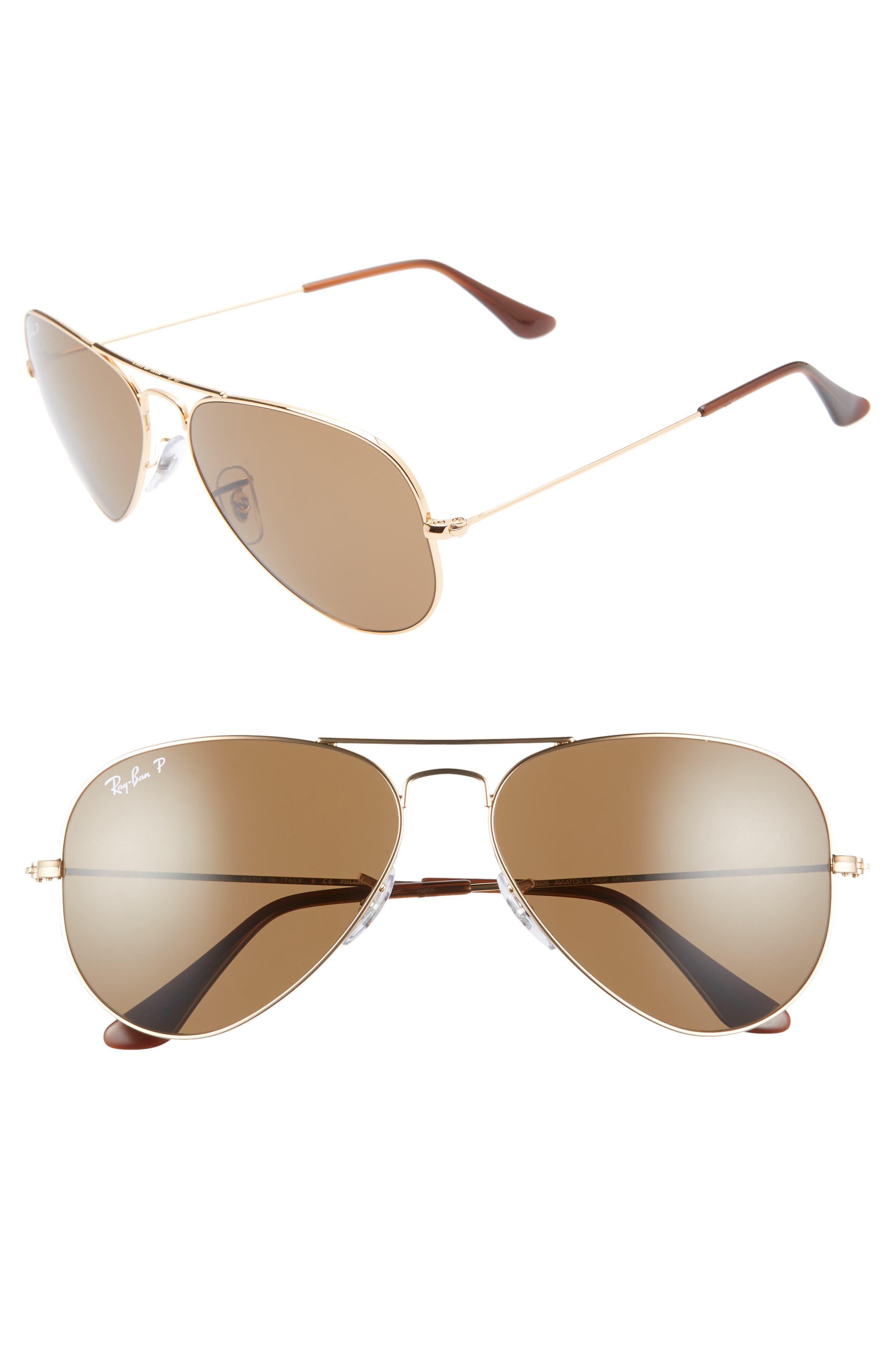 Ray-Ban Original 5m Aviator Sunglasses - Gold/ Brown Solid