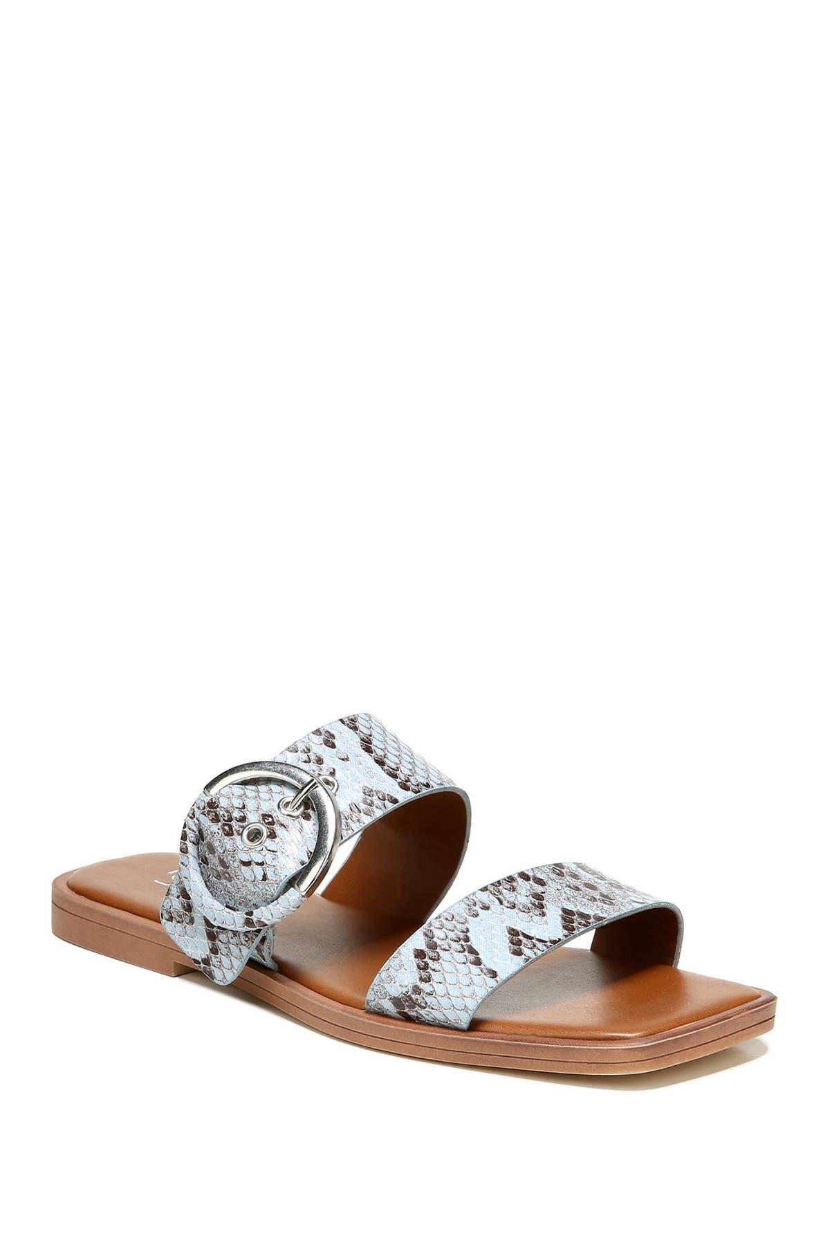 Image of Franco Sarto Merris Snake Embossed Slide Sandal
