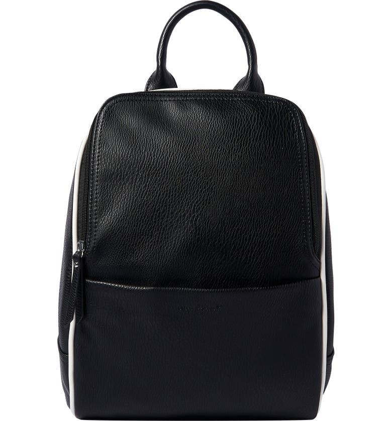 URBAN ORIGINALS Vegan Leather Movement Backpack, Main, color, BLACK/ CREAM