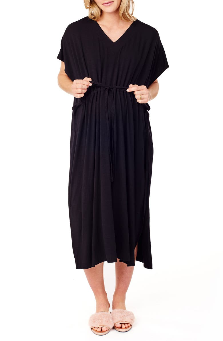 INGRID & ISABEL<SUP>®</SUP> x James Fox & Co. Maternity/Nursing Hospital Gown, Main, color, 006