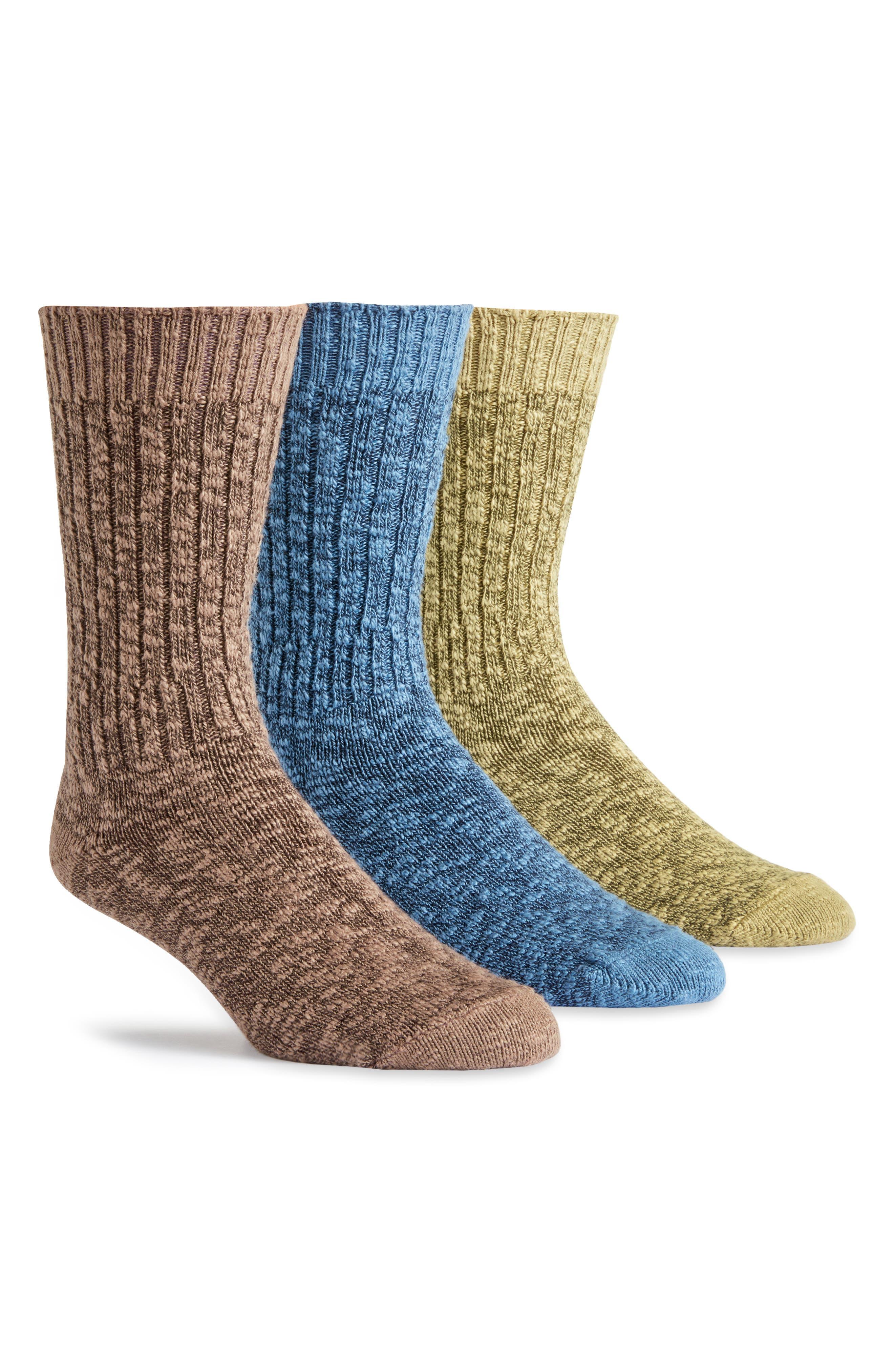 Ragg Assorted 3-Pack Organic Cotton Blend Socks