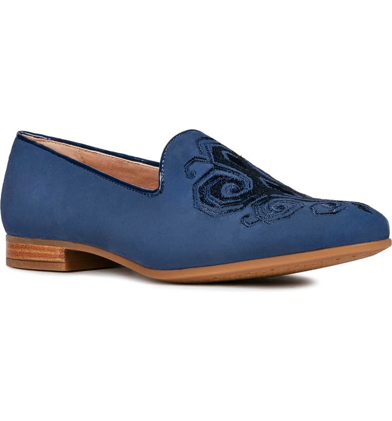 GEOX Marlyna Loafer, Main, color, BLUE SUEDE