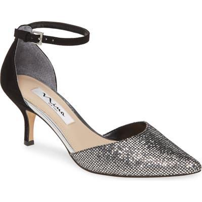 Nina Brenda Ankle Strap Pump, Metallic