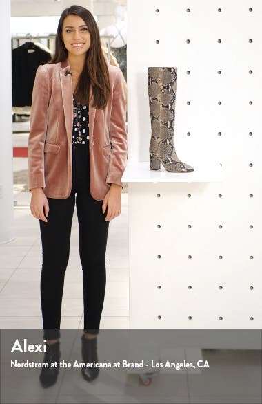 Python Embossed Knee High Boots, sales video thumbnail