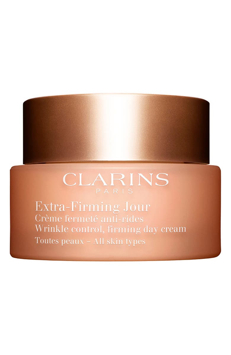 CLARINS Extra-Firming Wrinkle Control Firming Day Cream for All Skin Types, Main, color, NO COLOR