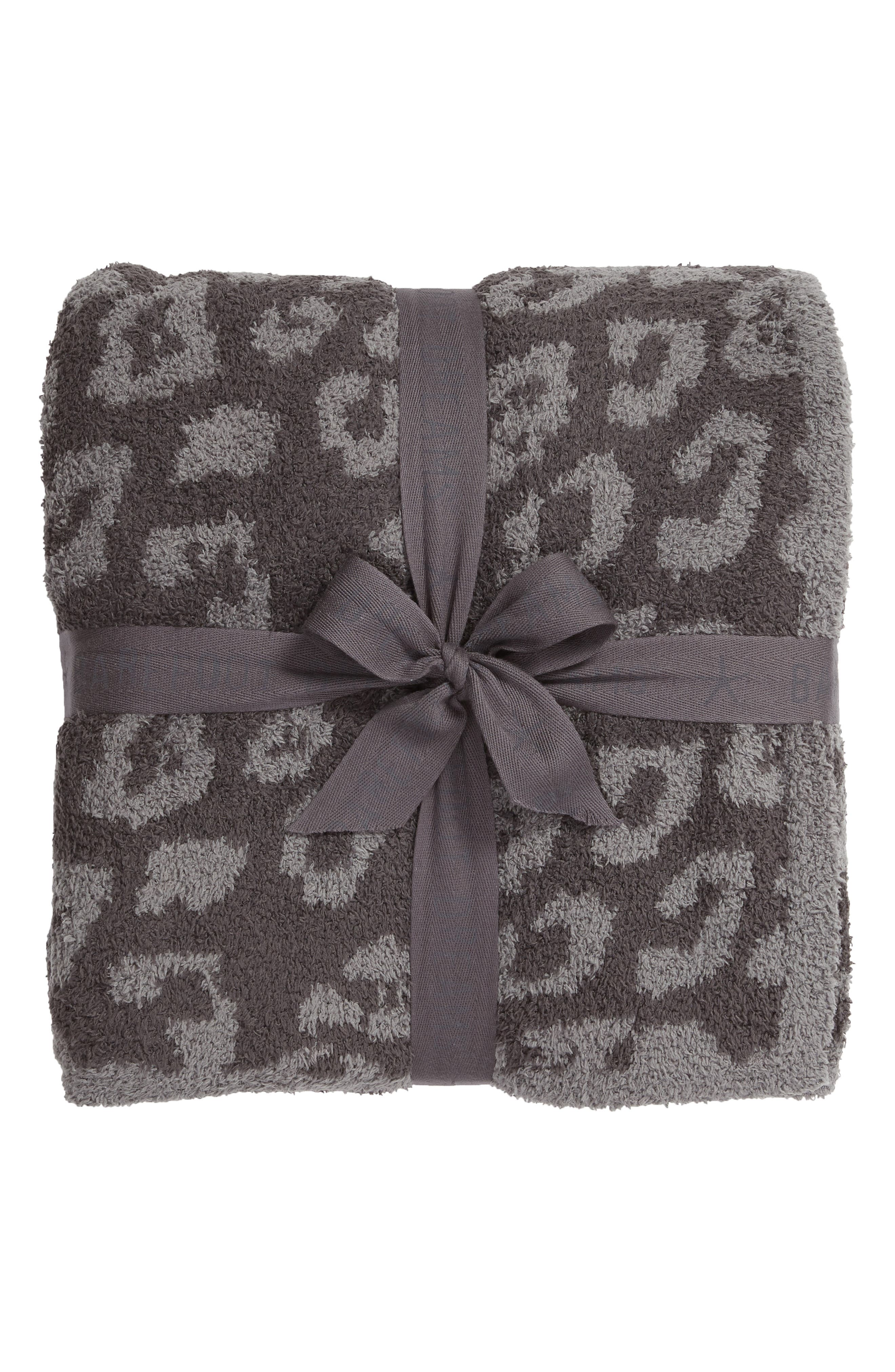 CozyChic 'In the Wild' Throw Blanket, Main, color, GRAPHITE/ CARBON