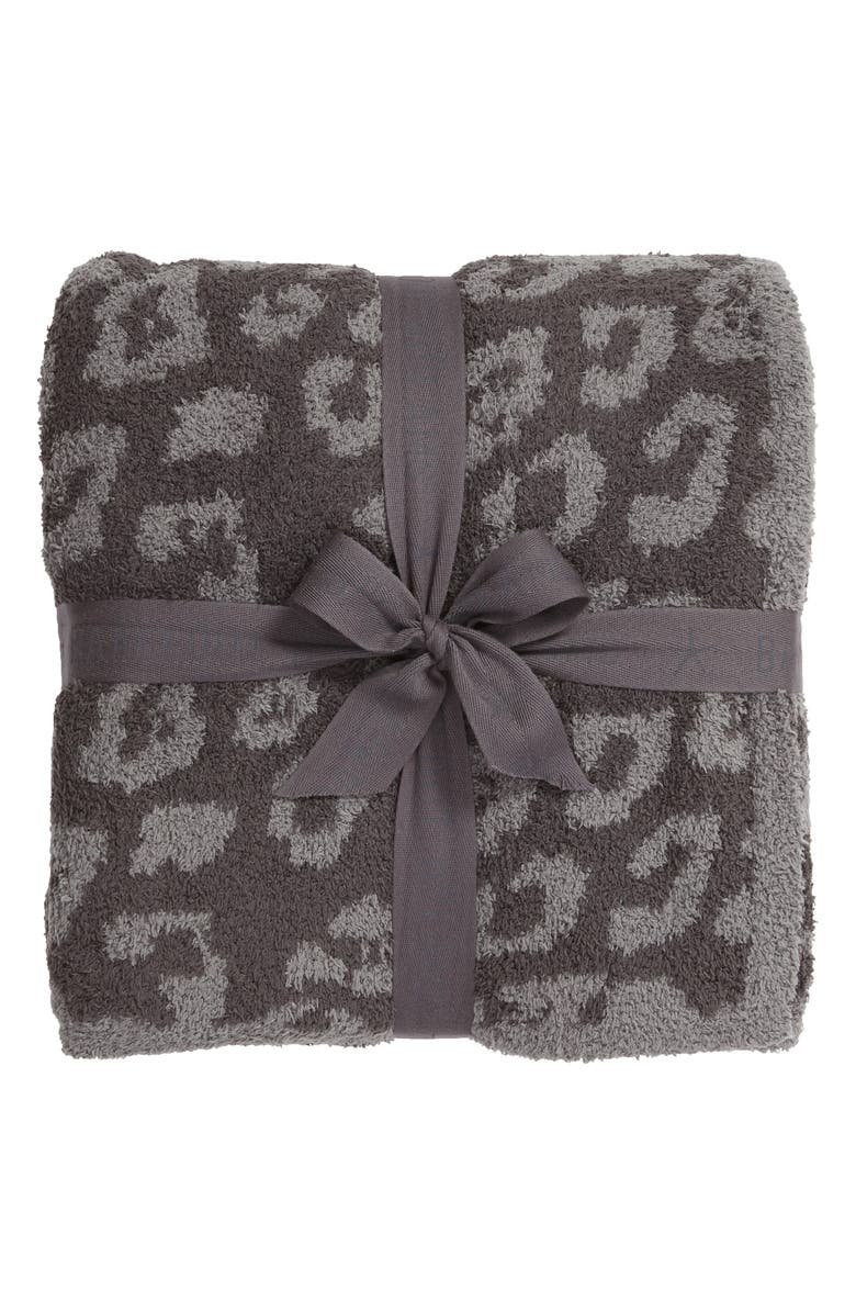 BAREFOOT DREAMS<SUP>®</SUP> CozyChic<sup>™</sup> In the Wild Throw Blanket, Main, color, GRAPHITE/ CARBON
