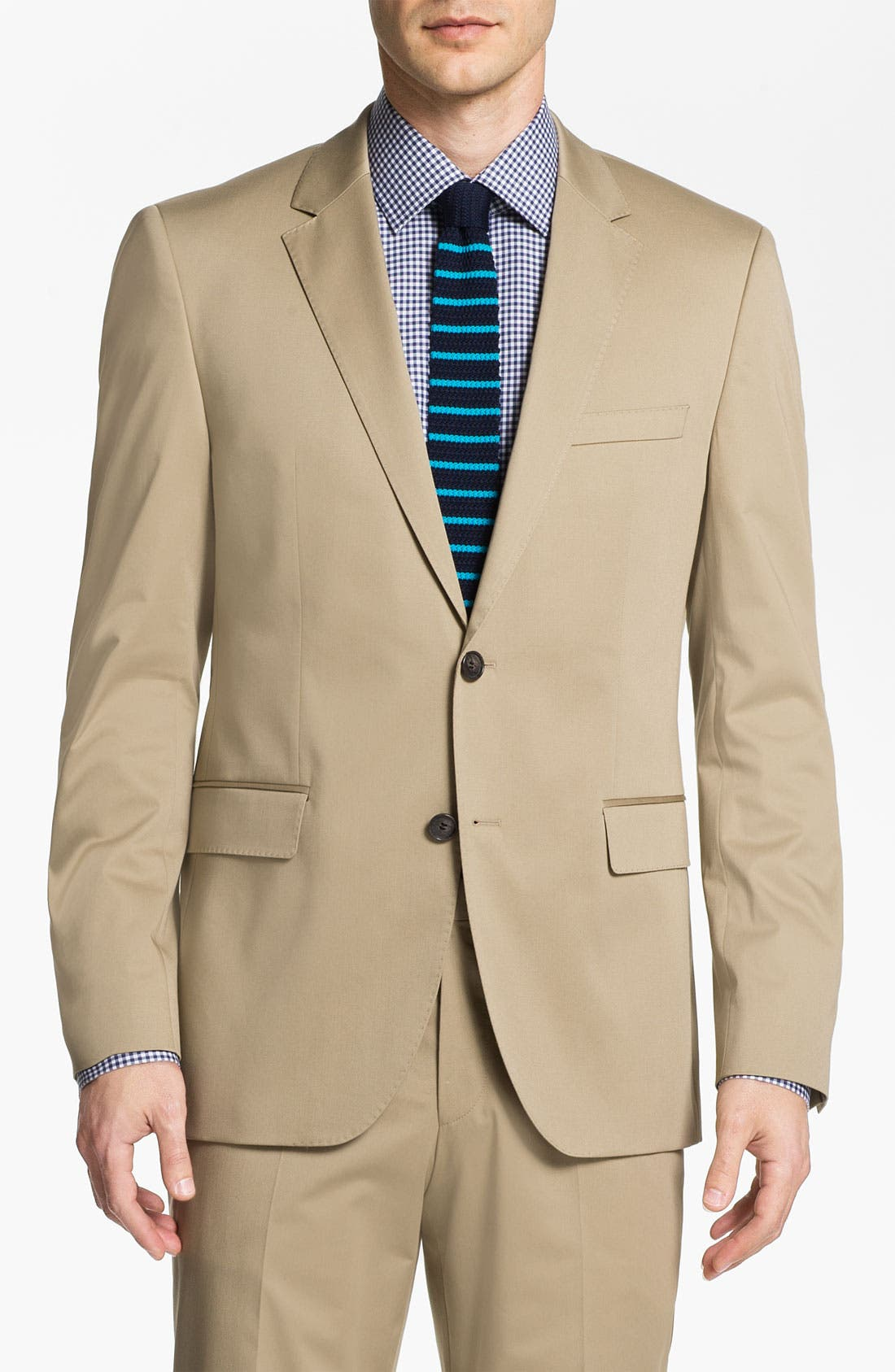 ,                             BOSS Black 'James/Sharp' Cotton Suit,                             Alternate thumbnail 2, color,                             291