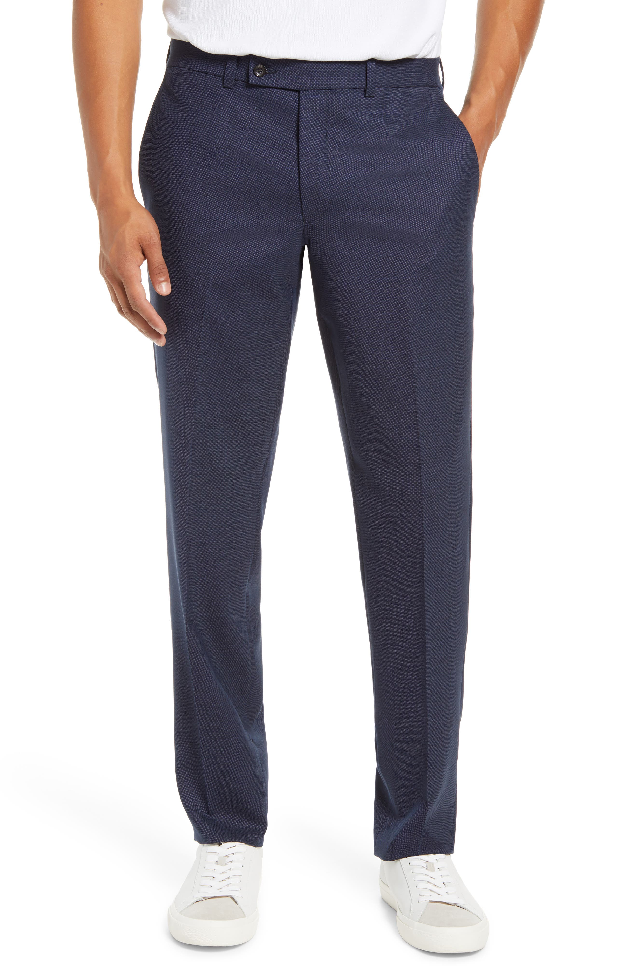 Purley Flat Front Wool Pants