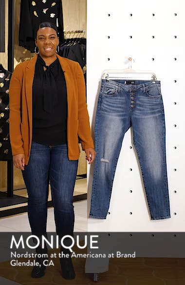 Donna Ripped High Waist Ankle Skinny Jeans, sales video thumbnail