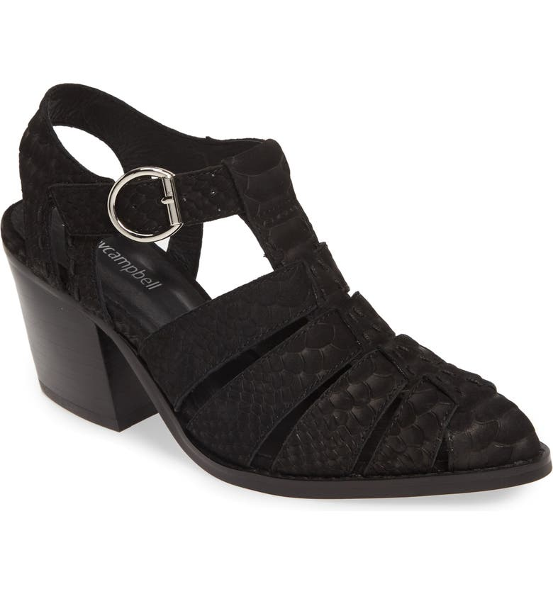 JEFFREY CAMPBELL Angora Sandal, Main, color, BLACK MATTE SNAKE PRINT
