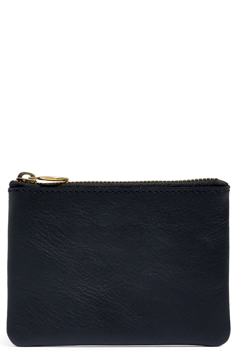 MADEWELL The Leather Pouch Wallet, Main, color, TRUE BLACK