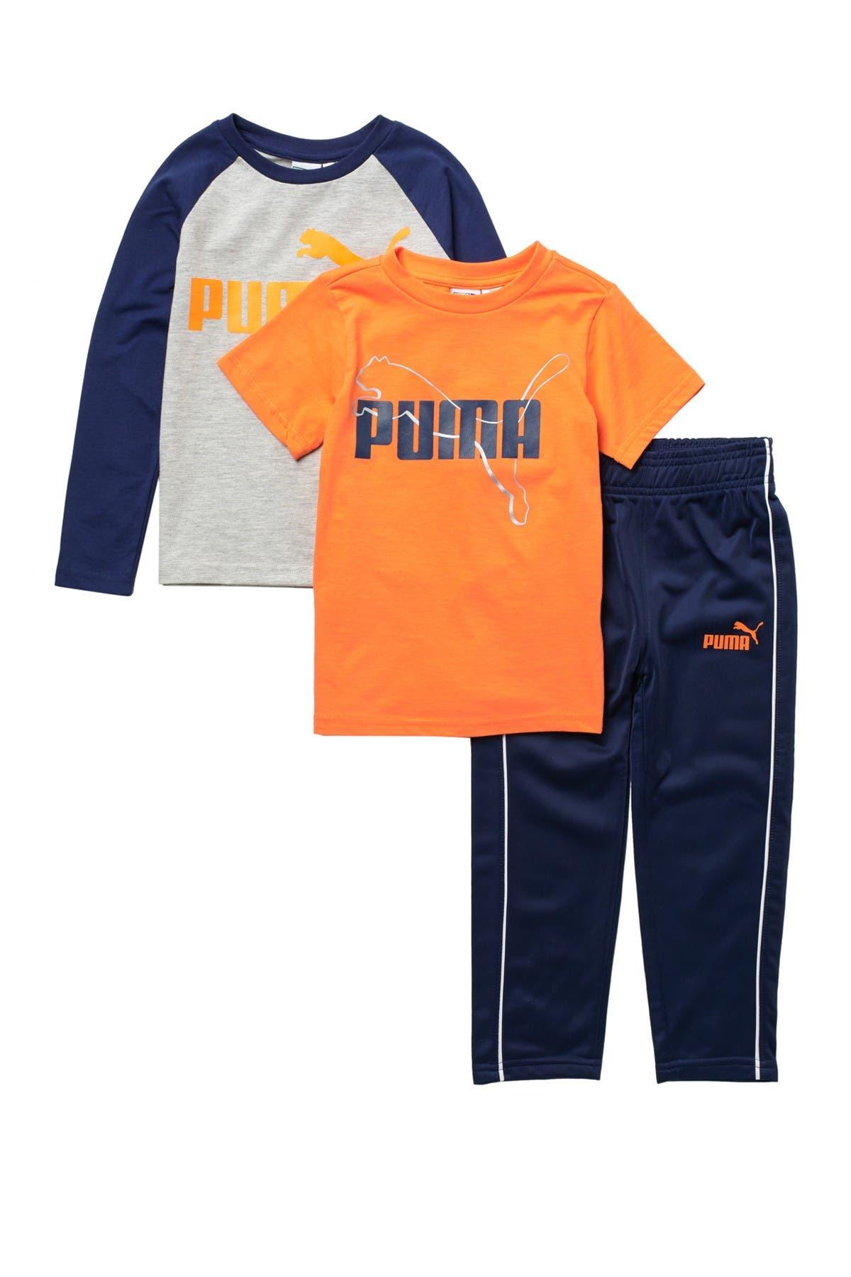 Image of PUMA Jersey 3-Piece T-Shirt & Pants Set