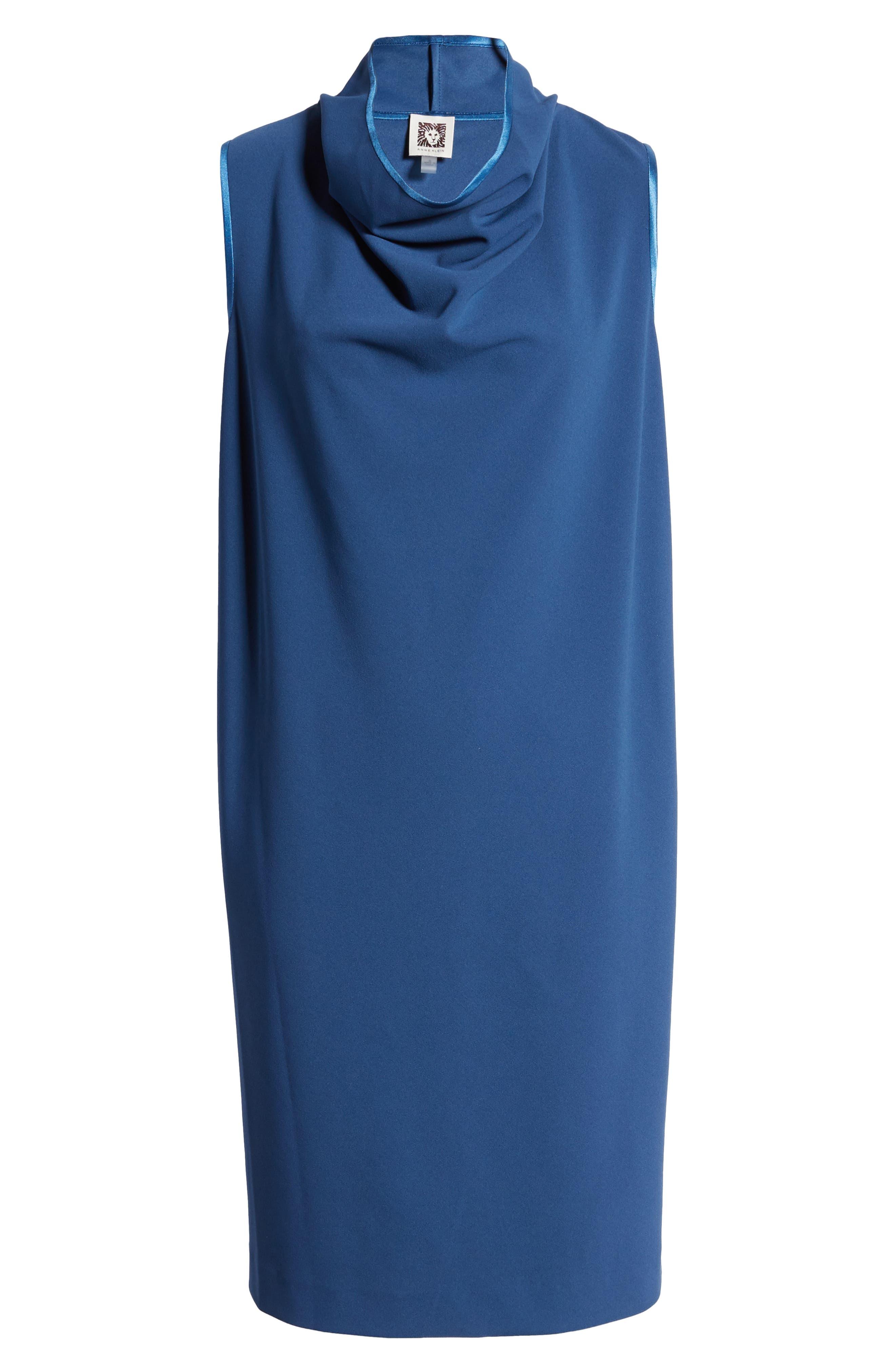 Anne Klein Dresses Cowl Neck Crepe Sheath Dress