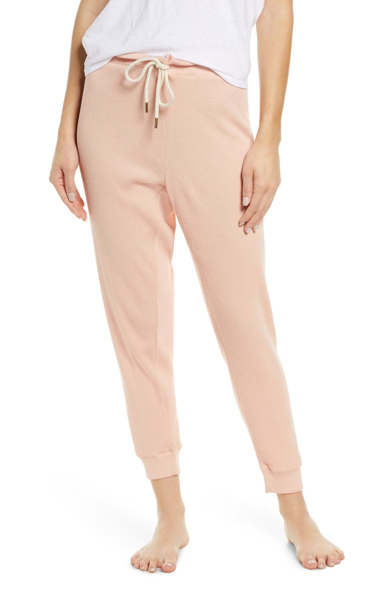THE GREAT. The Cropped Thermal Lounge Pants, Main, color, 650