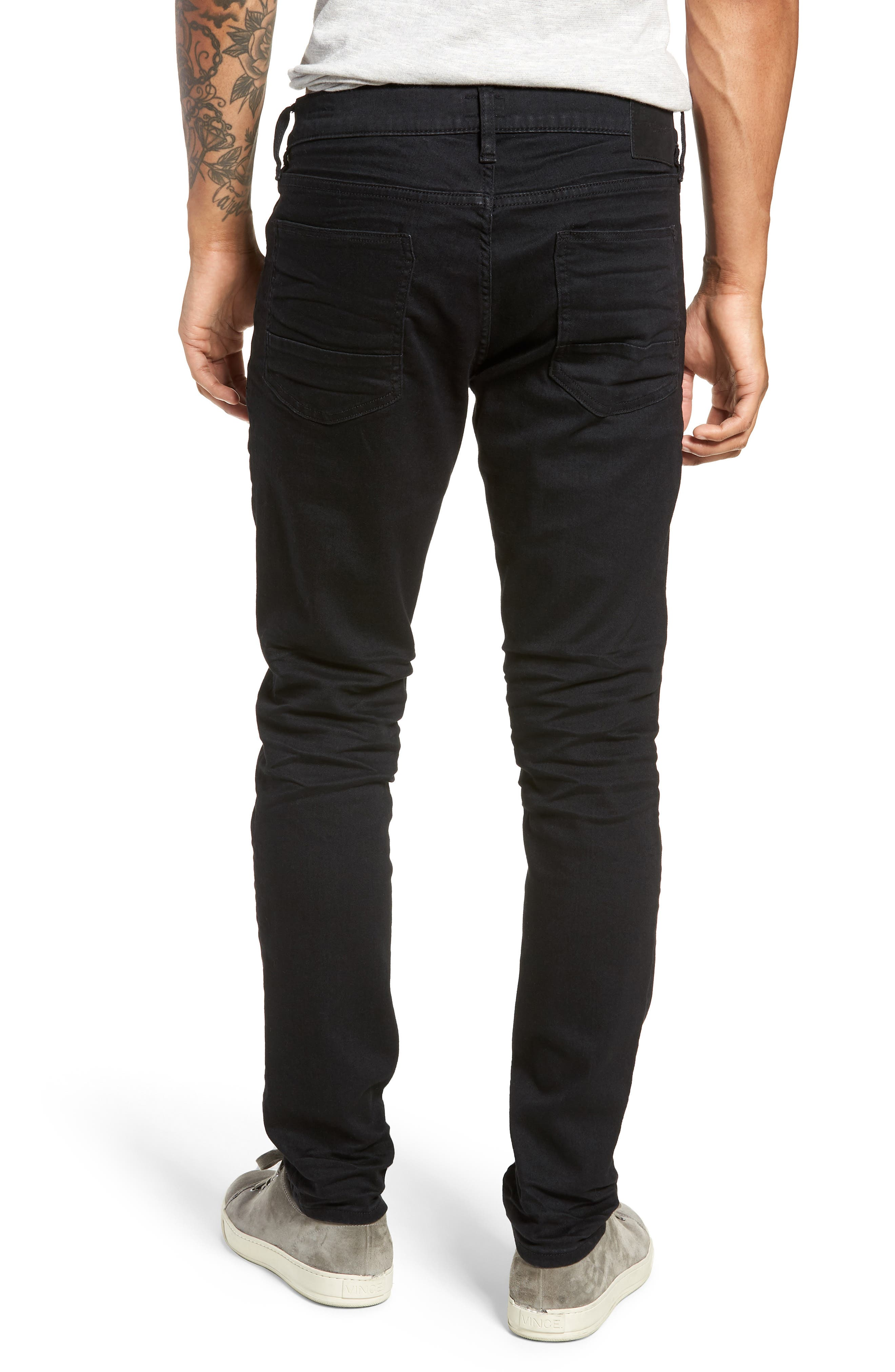 ,                             Machray Straight Fit Jeans,                             Alternate thumbnail 2, color,                             BLACK