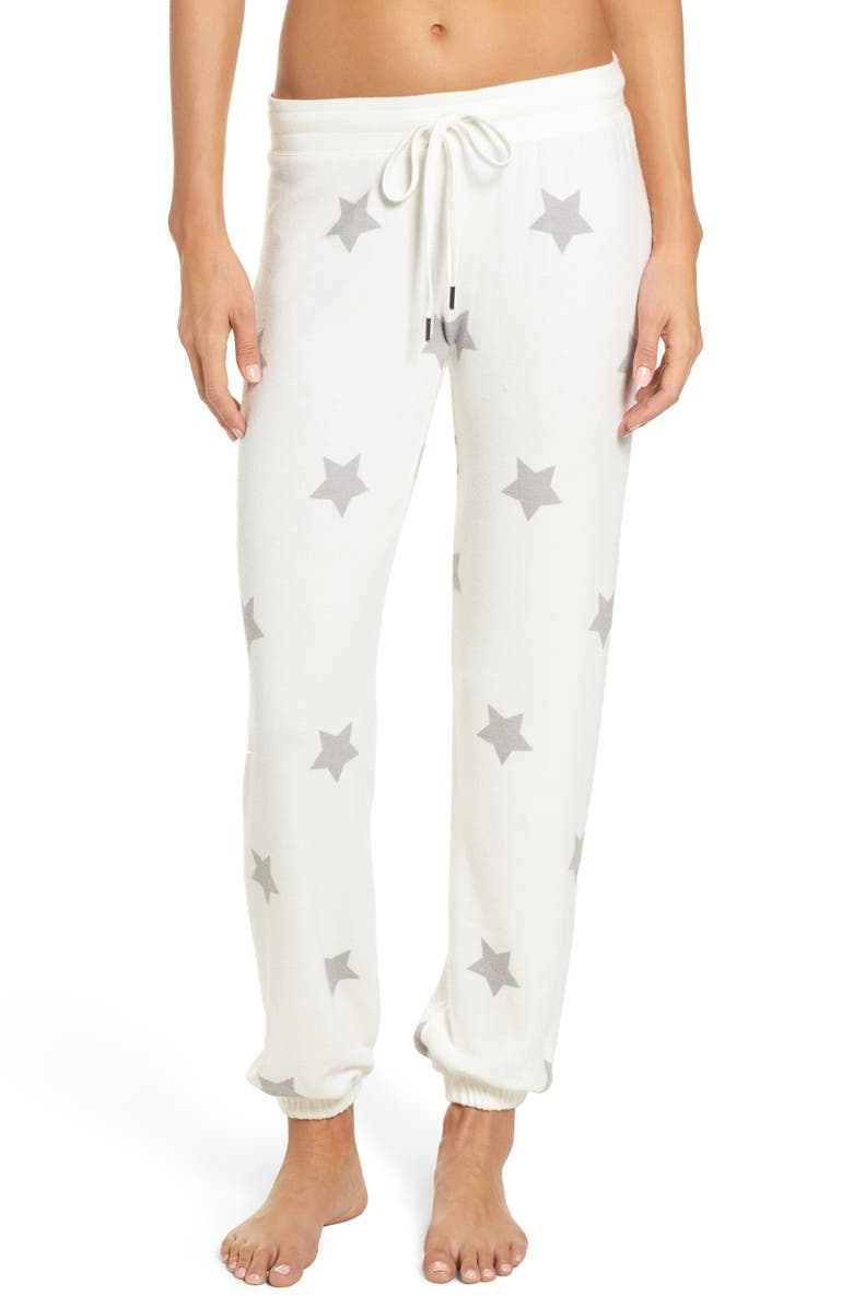 PJ SALVAGE Metallic Star Lounge Jogger Pants, Main, color, 900