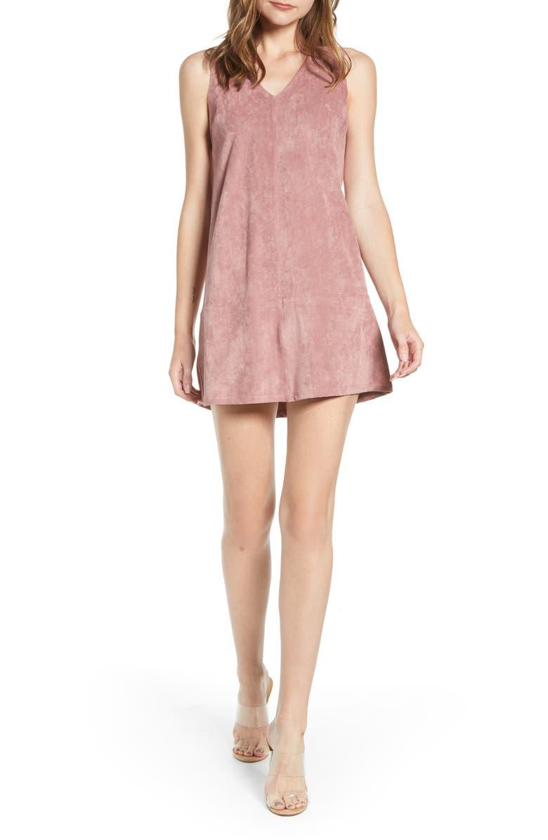 BISHOP + YOUNG V-Neck Minidress, Main, color, ROSE