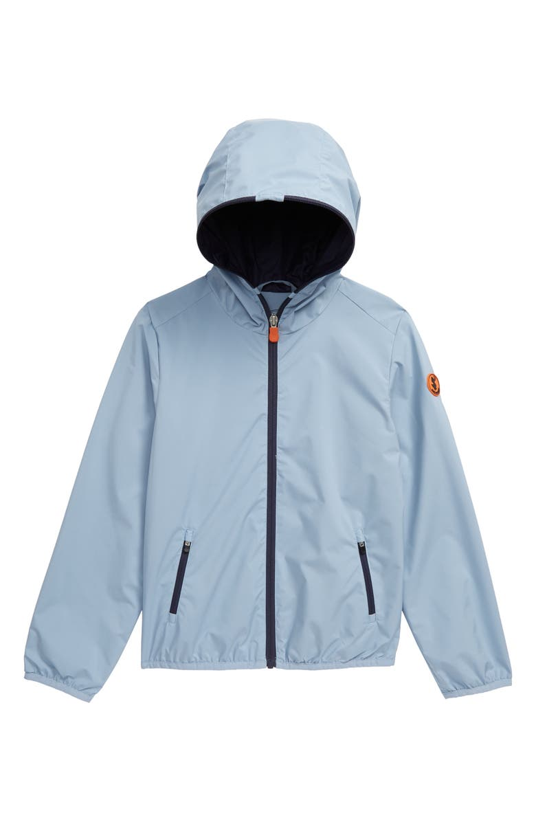 SAVE THE DUCK Lightweight Water Resistant Windbreaker, Main, color, DUSTY BLUE