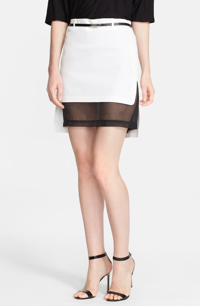 ROBERT RODRIGUEZ Robert Rodriquez Layered Short Skirt, Main, color, 100