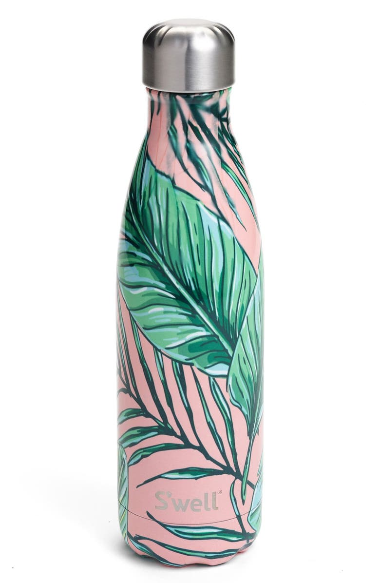 S'WELL Palm Beach Stainless Steel Water Bottle, Main, color, 650