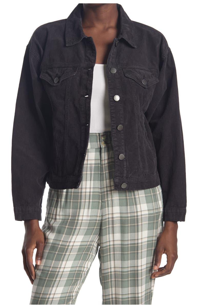 SISSTREVOLUTION Strummin' Cords Jacket, Main, color, BLK-BLACK