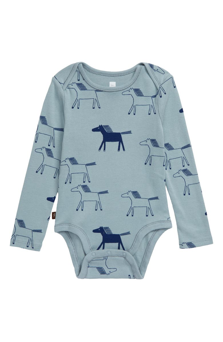 TEA COLLECTION Himalayan Horses Bodysuit, Main, color, HIGHLAND HORSES