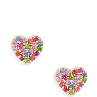 Anzie Love Rainbow Heart Stud Earrings