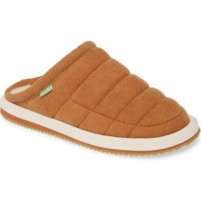 Sanuk Puff N Chill Low Cord Quilted Mule, Brown