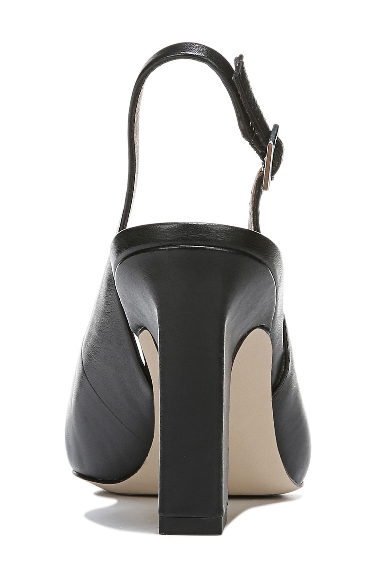 ,                             Sophie Pointy Toe Slingback Pump,                             Alternate thumbnail 7, color,                             BLACK PATENT LEATHER