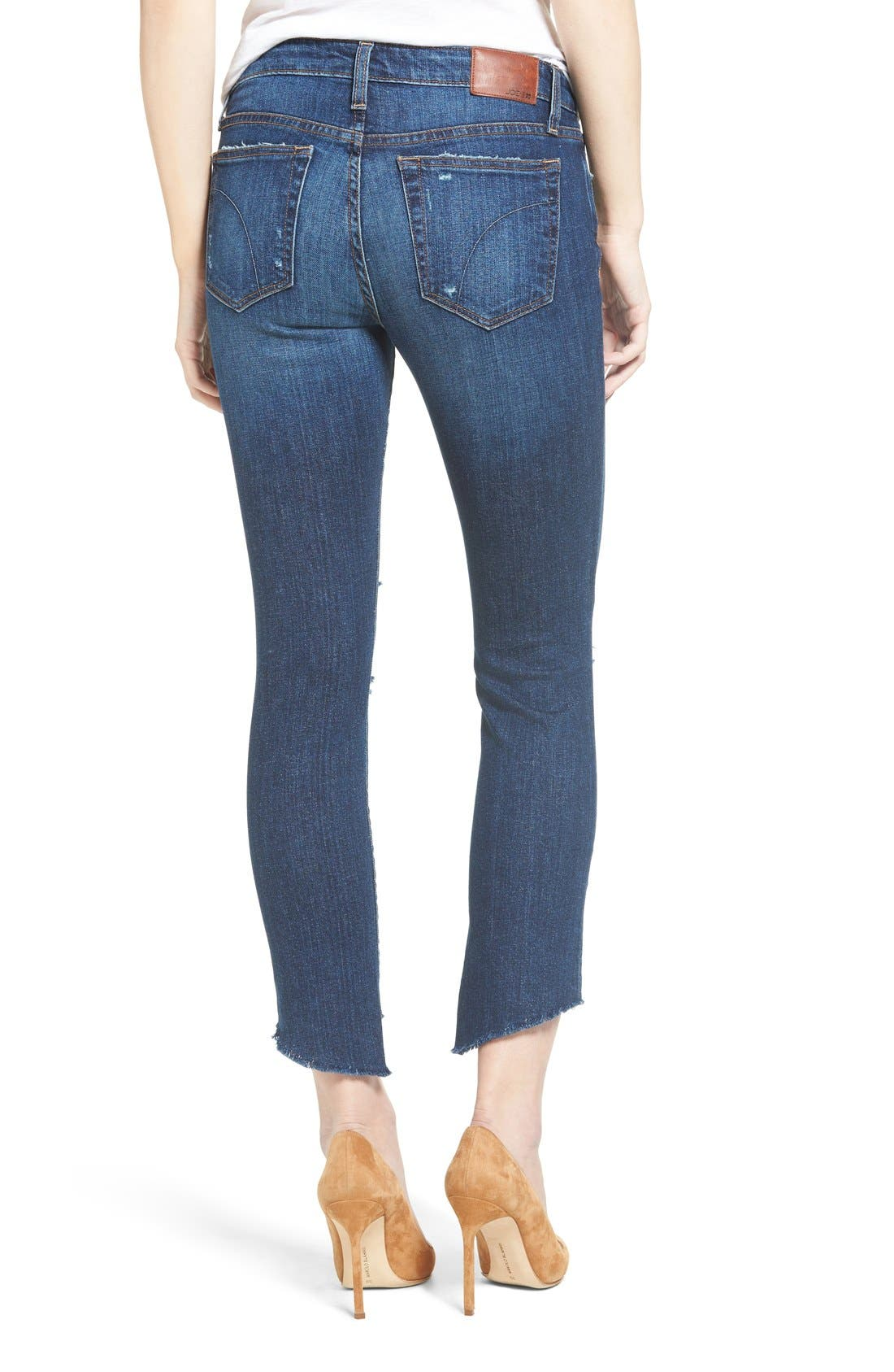 ,                             Icon Ripped Step Hem Crop Skinny Jeans,                             Alternate thumbnail 2, color,                             440