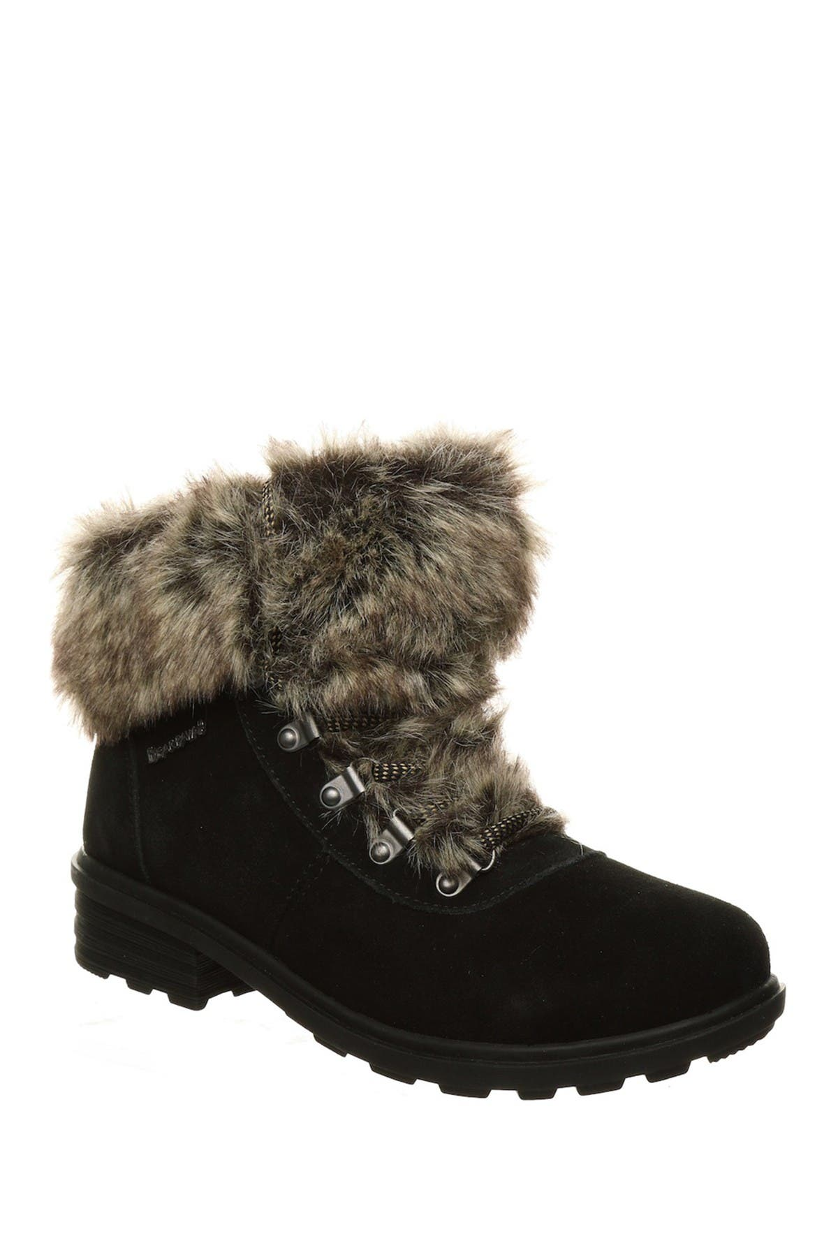 Image of BEARPAW Serenity Faux Fur Lace-Up Boot