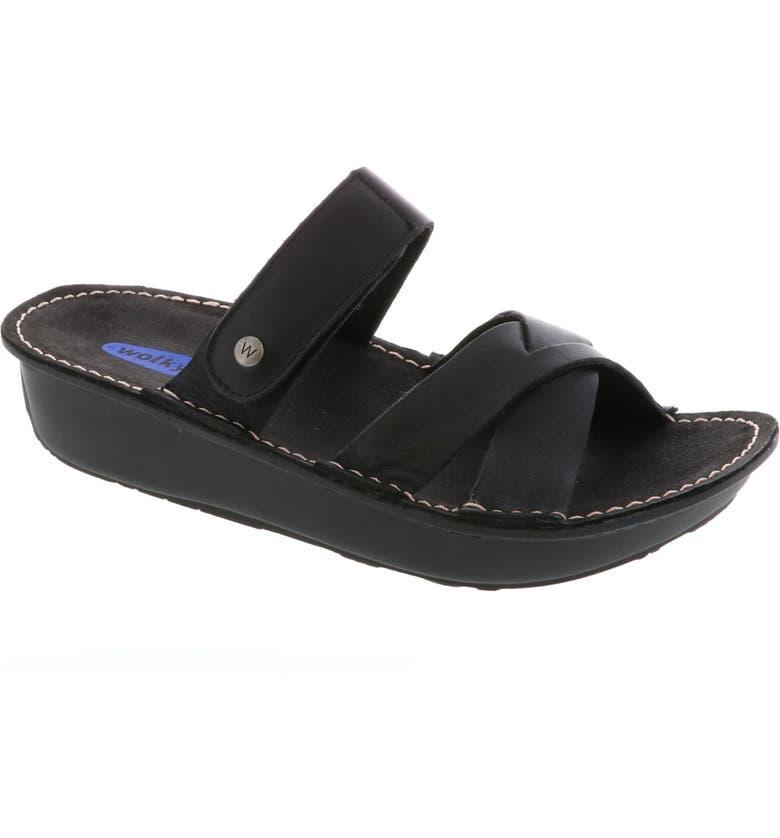 WOLKY Bioko Sandal, Main, color, BLACK