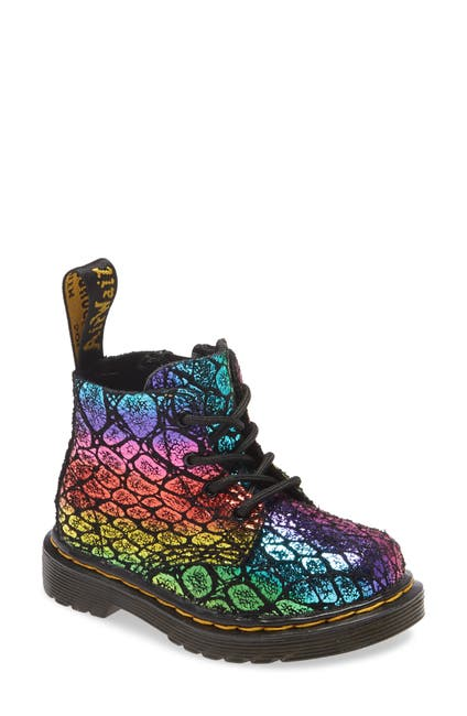 Image of Dr. Martens 1460 Pascal Rainbow Croc Print Boot