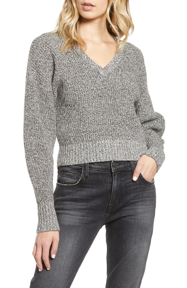 REBECCA MINKOFF Bowie Crop Sweater, Main, color, 021