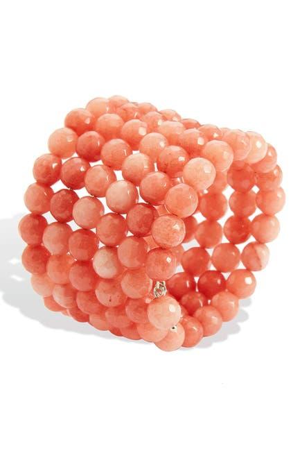 Image of Savvy Cie Coral Agate Wrap Bracelet