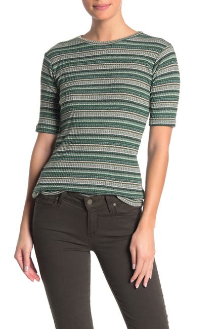 Image of ELAN Striped Knit T-Shirt