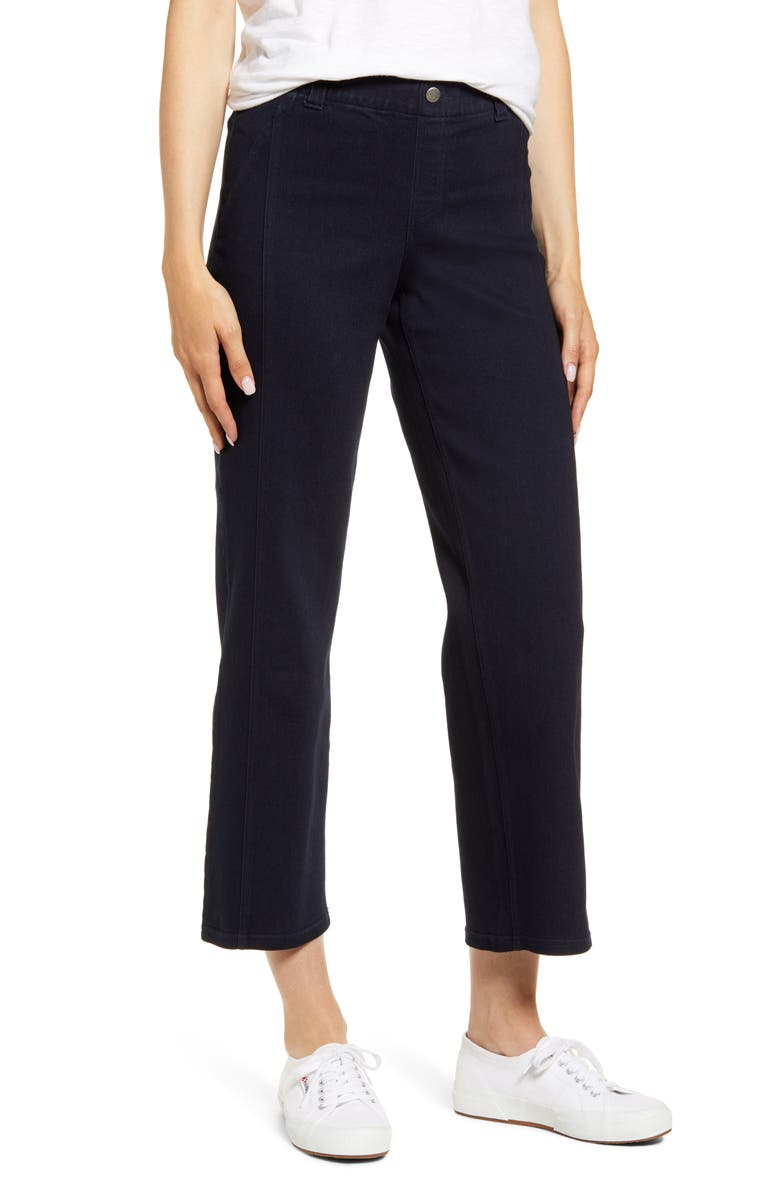 HUE Denim Culotte Pants, Main, color, 401